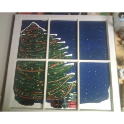 Window - Christmas tree