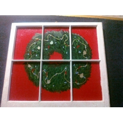 Christmas Wreath window decoration artwork